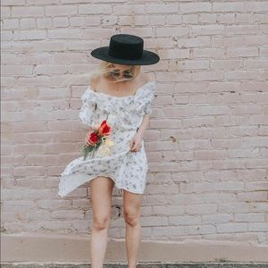 Sugar Lips White Floral Dress